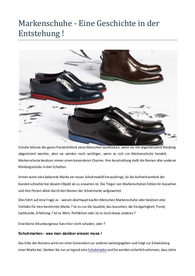 Markenschuhe - Eine Geschichte in der Entstehung !  Schuhe können die ganze Persönlichkeit eines Menschen ausdrücken, wenn...