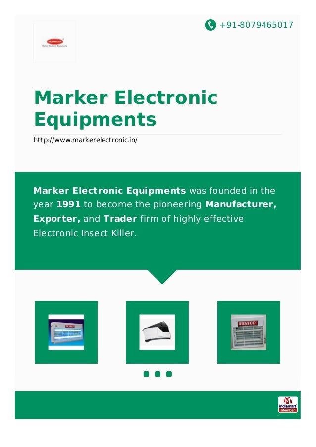+91-8079465017 Marker Electronic Equipments http://www.markerelectronic.in/ Marker Electronic Equipments was founded in th...