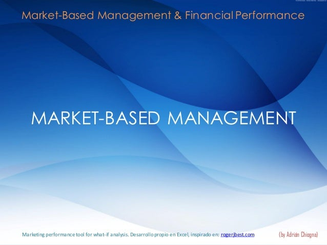 MARKET-BASED MANAGEMENT (by Adrián Chiogna) Market-Based Management & Financial Performance Marketing performance tool for...
