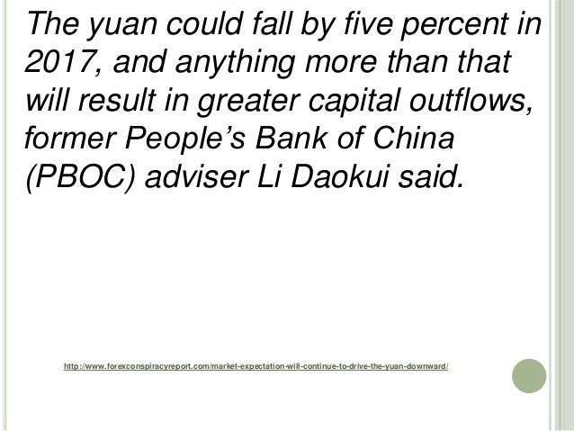 http://www.forexconspiracyreport.com/market-expectation-will-continue-to-drive-the-yuan-downward/ The yuan could fall by f...