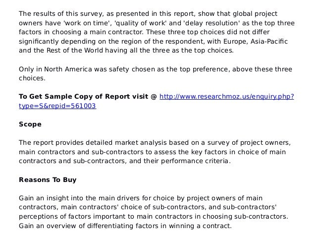 Global construction marke key success factors for for America s best contractors