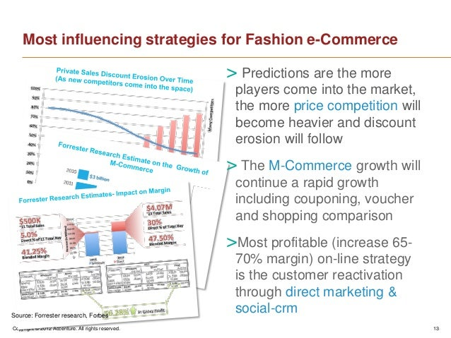 Copyright © 2012 Accenture. All rights reserved. 13Most influencing strategies for Fashion e-Commerce> Predictions are the...