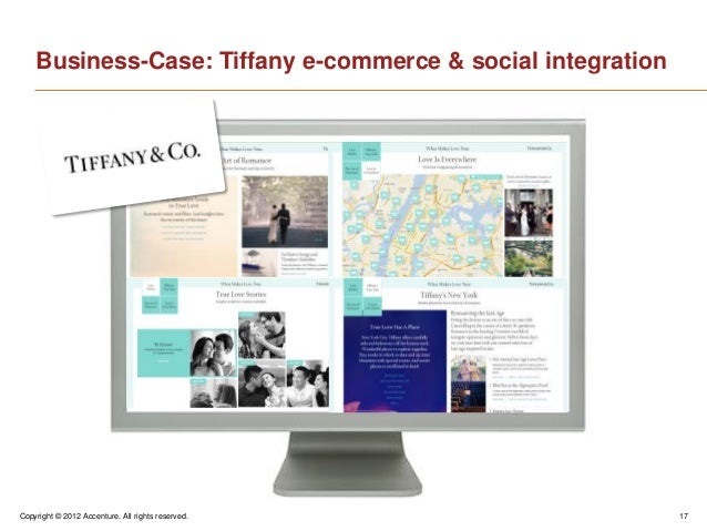 Copyright © 2012 Accenture. All rights reserved. 17Business-Case: Tiffany e-commerce & social integration