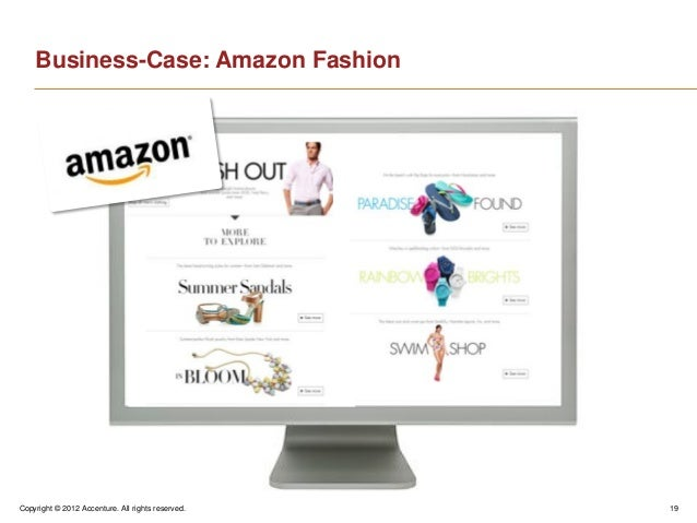 Copyright © 2012 Accenture. All rights reserved. 19Business-Case: Amazon Fashion