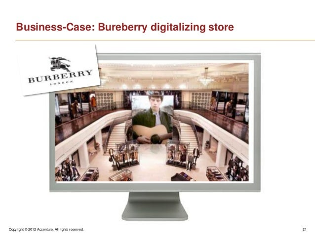 Copyright © 2012 Accenture. All rights reserved. 21Business-Case: Bureberry digitalizing store