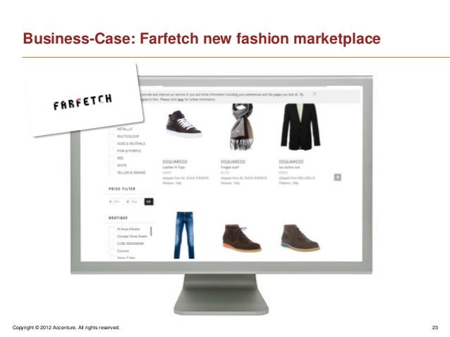 Copyright © 2012 Accenture. All rights reserved. 23Business-Case: Farfetch new fashion marketplace