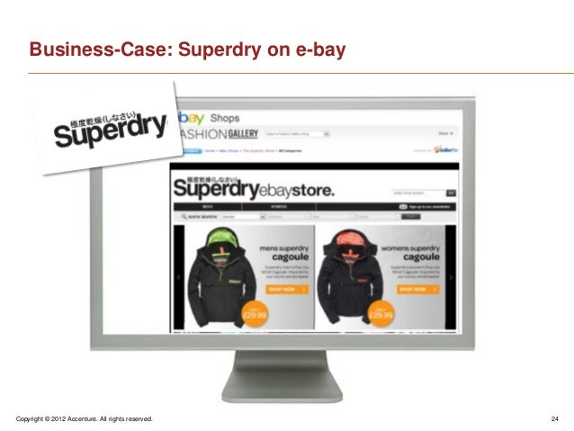 Copyright © 2012 Accenture. All rights reserved. 24Business-Case: Superdry on e-bay