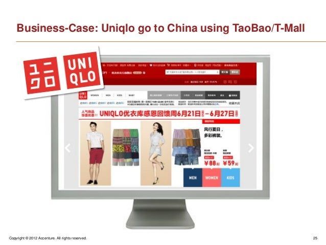 Copyright © 2012 Accenture. All rights reserved. 25Business-Case: Uniqlo go to China using TaoBao/T-Mall