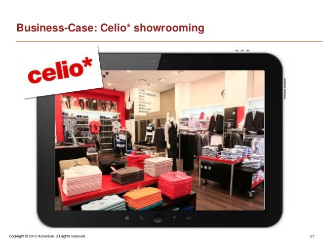 Copyright © 2012 Accenture. All rights reserved. 27Business-Case: Celio* showrooming