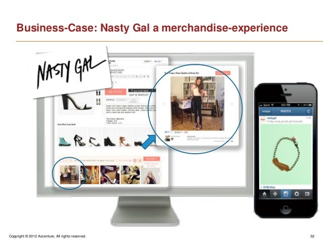 Copyright © 2012 Accenture. All rights reserved. 32Business-Case: Nasty Gal a merchandise-experience