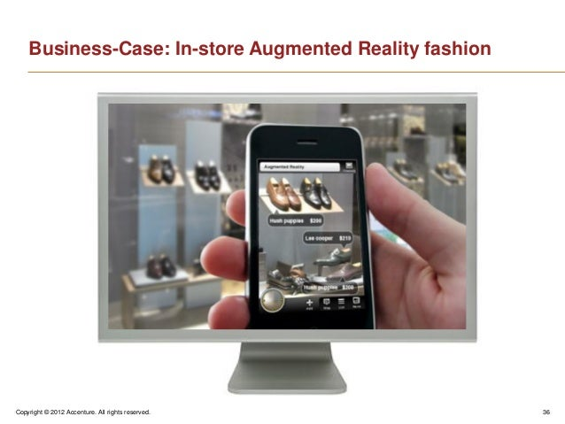 Copyright © 2012 Accenture. All rights reserved. 36Business-Case: In-store Augmented Reality fashion