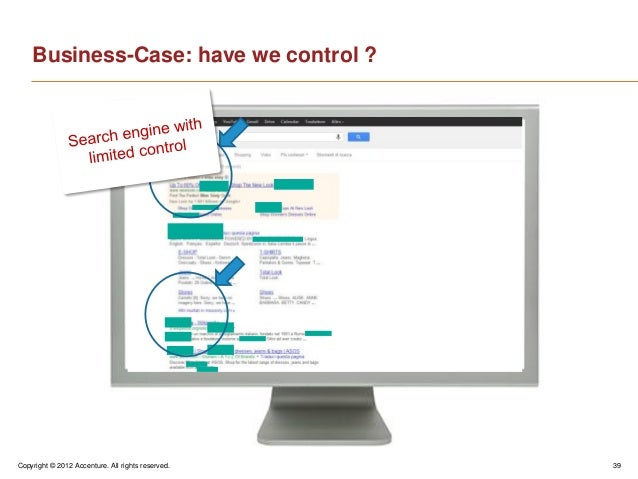 Copyright © 2012 Accenture. All rights reserved. 39Business-Case: have we control ?