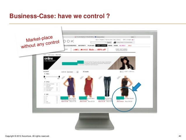 Copyright © 2012 Accenture. All rights reserved. 40Business-Case: have we control ?