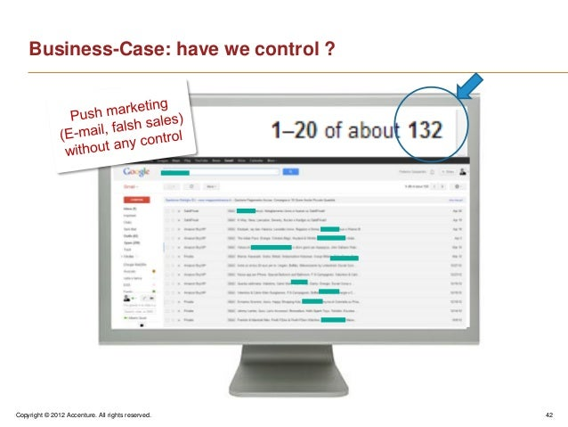Copyright © 2012 Accenture. All rights reserved. 42Business-Case: have we control ?