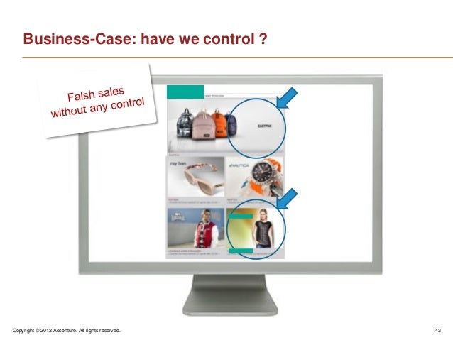 Copyright © 2012 Accenture. All rights reserved. 43Business-Case: have we control ?