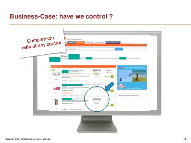 Copyright © 2012 Accenture. All rights reserved. 44Business-Case: have we control ?