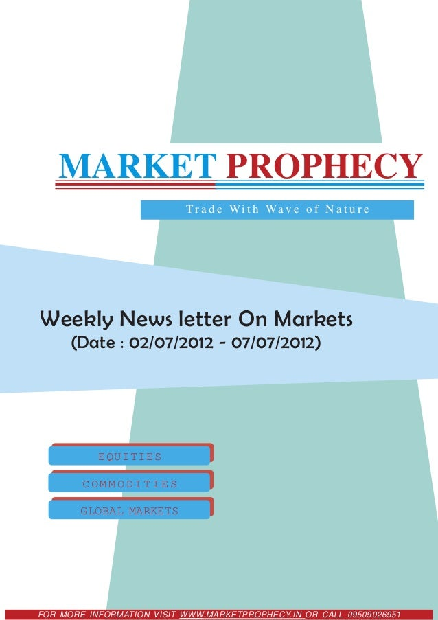 MARKET PROPHECY                           T r a d e W i t h Wa v e o f N a t u r eWeekly News letter On Markets      (Date...