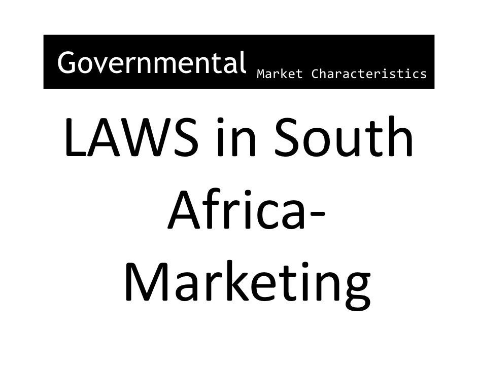 Market Value And South African Market Characteristics