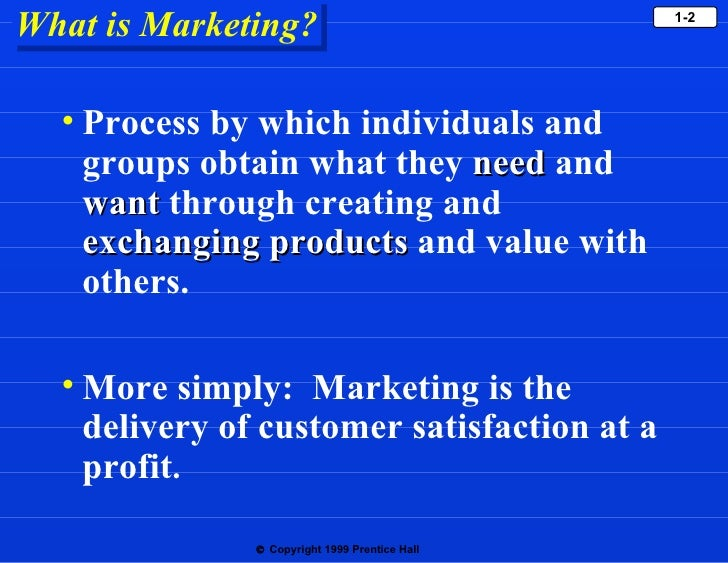 marketing ch 1 Marketing is nothing more than a set of business activities performed by individual firms.