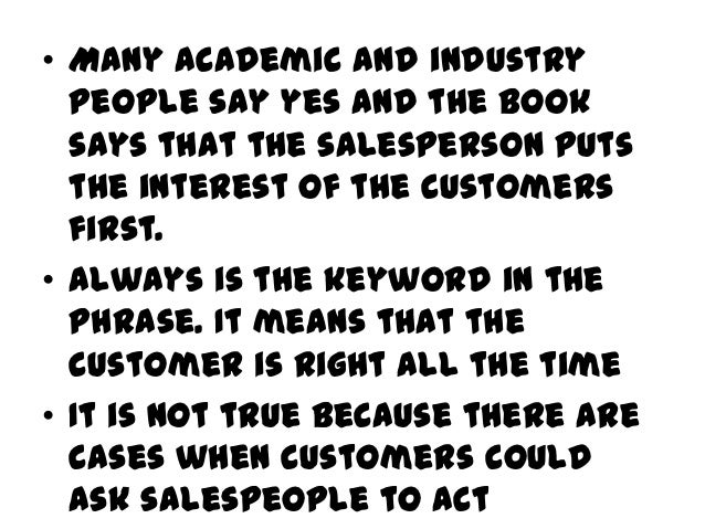 Do's and Don'tsfor businessSalespeople