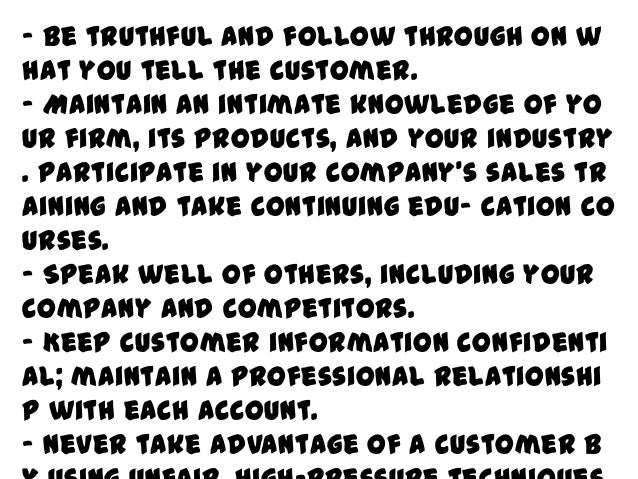"""Don'ts""""Seven deadly sins of business selling"""""""
