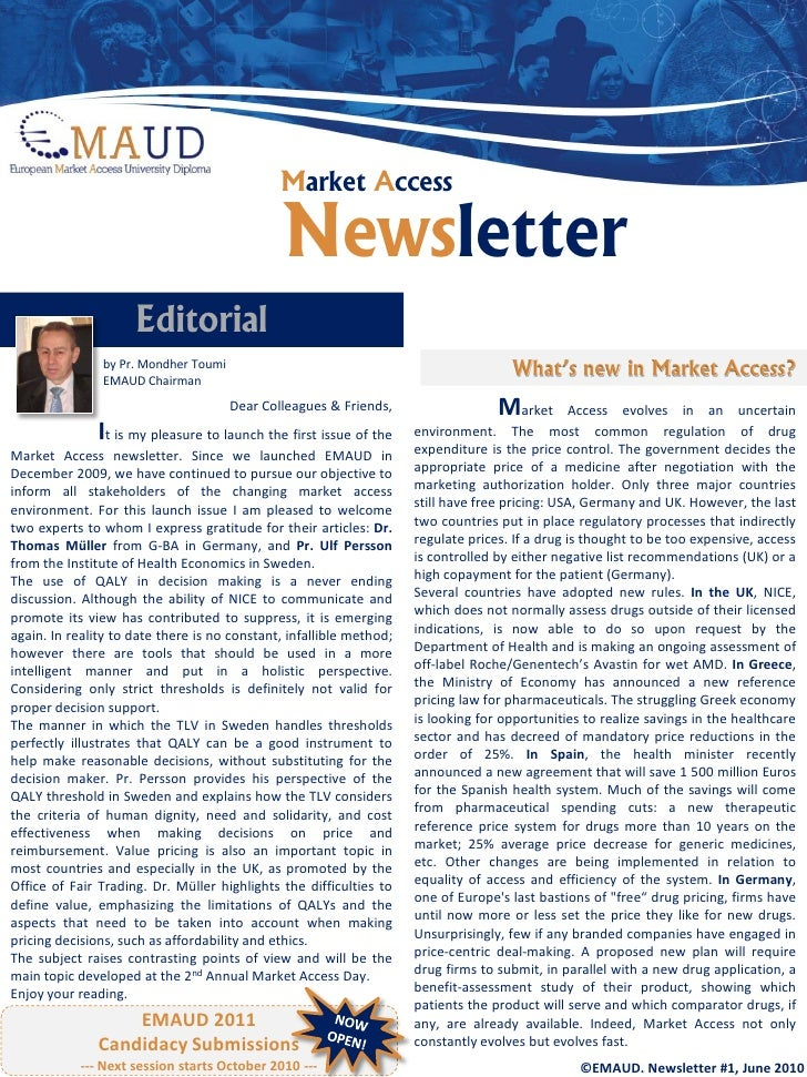 Market Access                                                 Newsletter                      Editorial                by ...