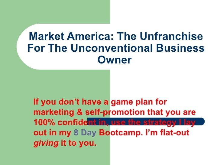 market america unfranchise business plan