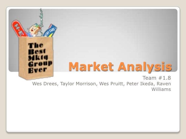 Market Analysis                                              Team #1.8Wes Drees, Taylor Morrison, Wes Pruitt, Peter Ikeda,...