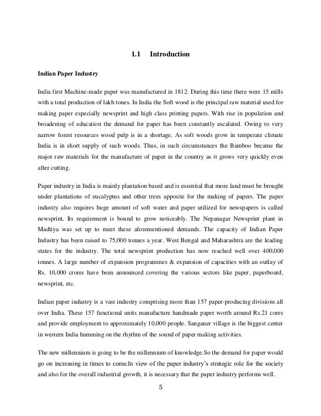 Industry analysis paper