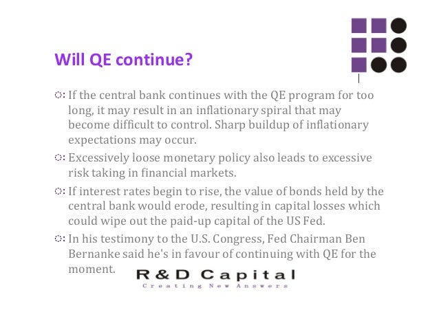 Will QE continue? ◌ः So an abrupt end to the QE program may not happen. But the size of QE could be reduced in the near fu...
