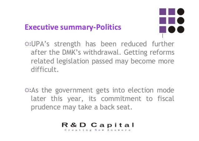 Executive summary-international ◌ः As the US economy improves, quantitative easing may be tapered. Will affect liquidity f...