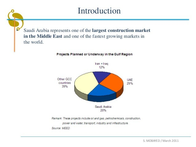 Introduction•   Saudi Arabia represents one of the largest construction market    in the Middle East and one of the fastes...