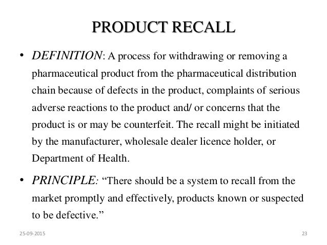 product recall Find out more about product recalls from farm fresh supermarkets, a nc & va grocery store, here.