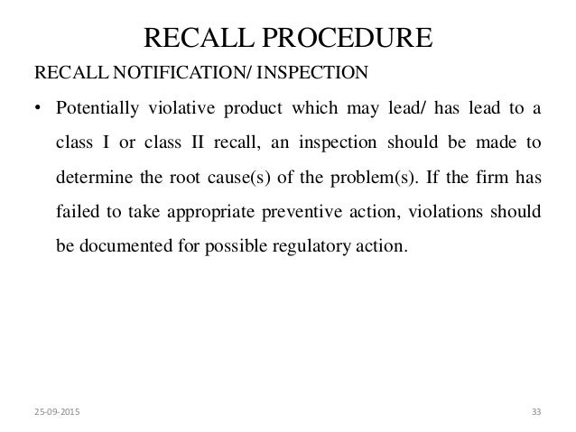 Market complaints and product recall recall procedure recall notification spiritdancerdesigns Gallery