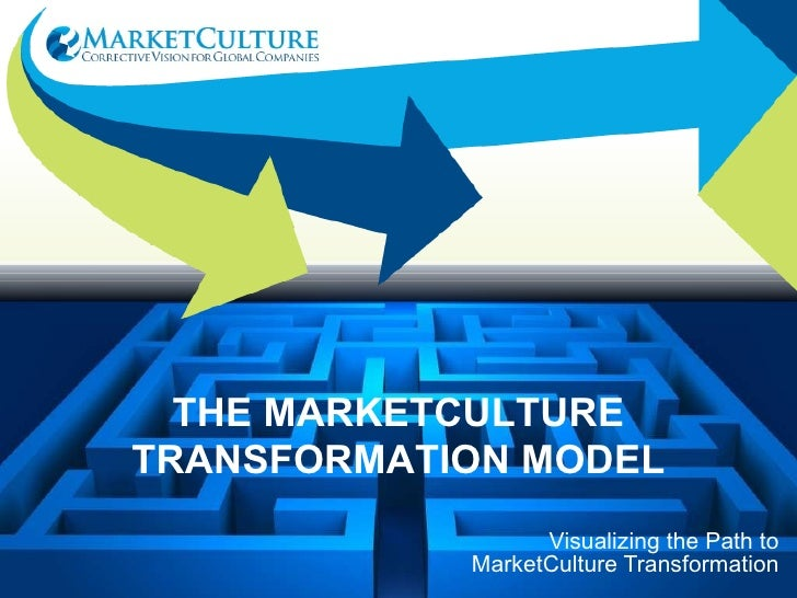 Visualizing the Path to MarketCulture Transformation THE MARKETCULTURE TRANSFORMATION MODEL