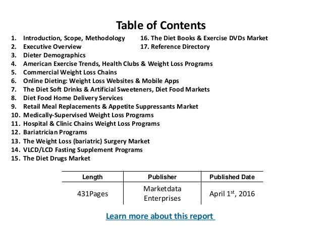 u s weight loss diet control market