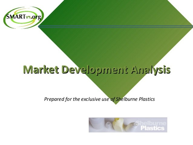 Market Development Analysis   Prepared for the exclusive use of Shelburne Plastics