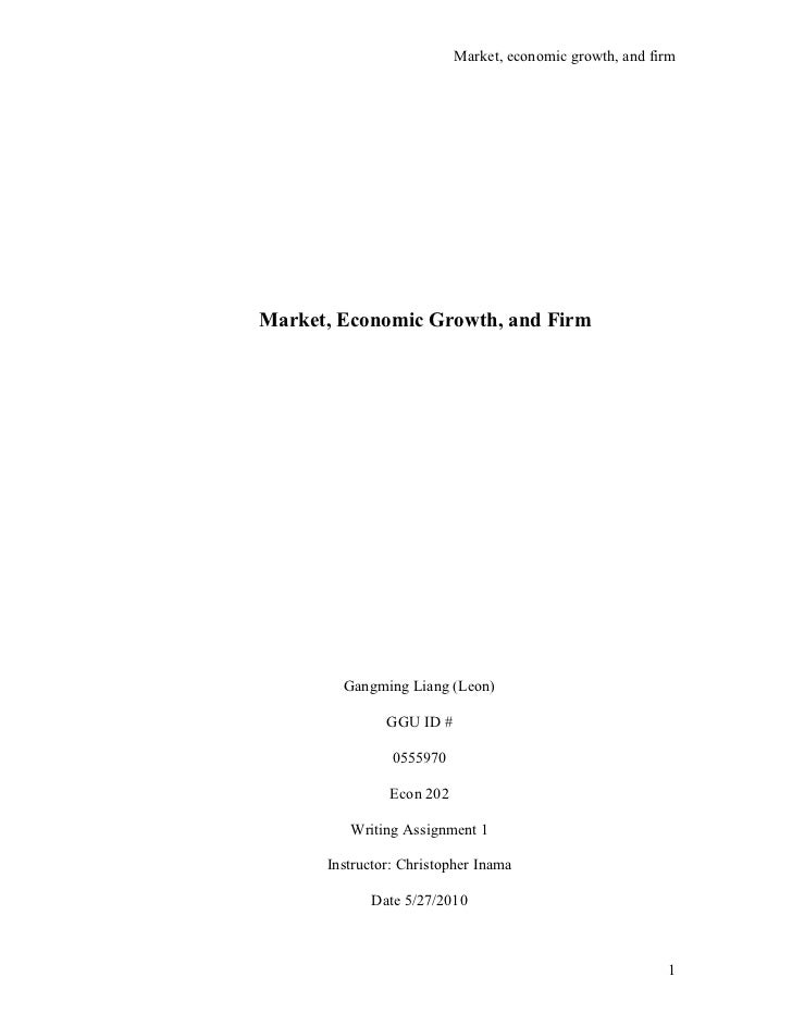 Market, economic growth, and firm