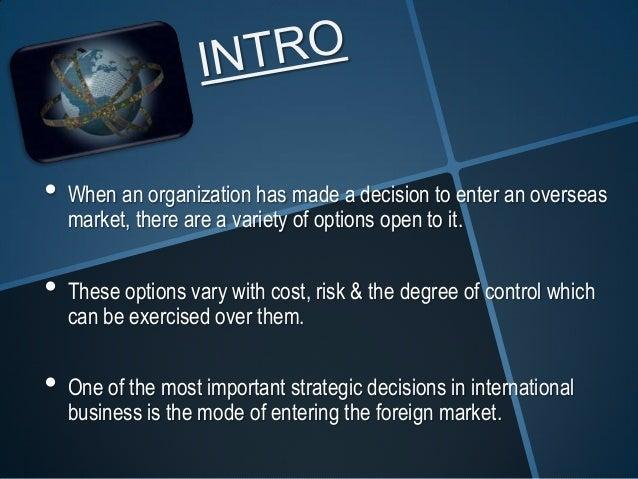 Market entry strategies Slide 3