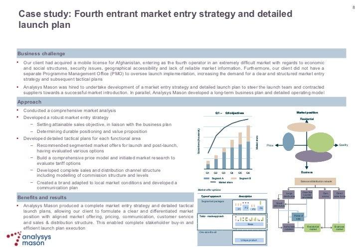 8 Case Study Fourth Entrant Market Entry