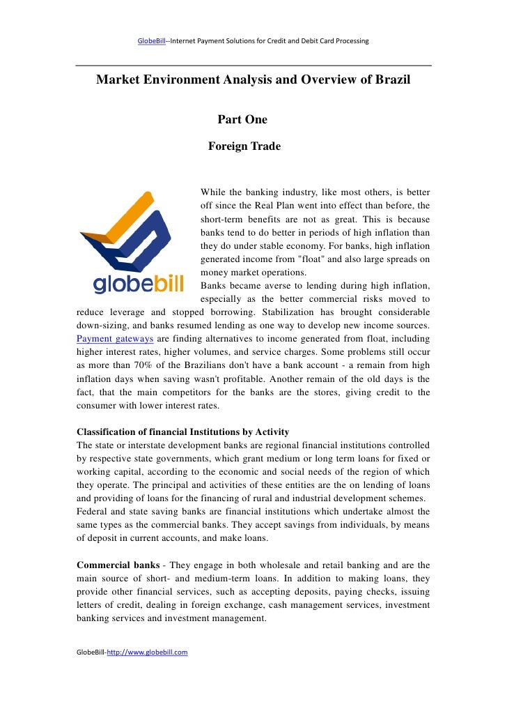 GlobeBill--Internet Payment Solutions for Credit and Debit Card Processing     Market Environment Analysis and Overview of...