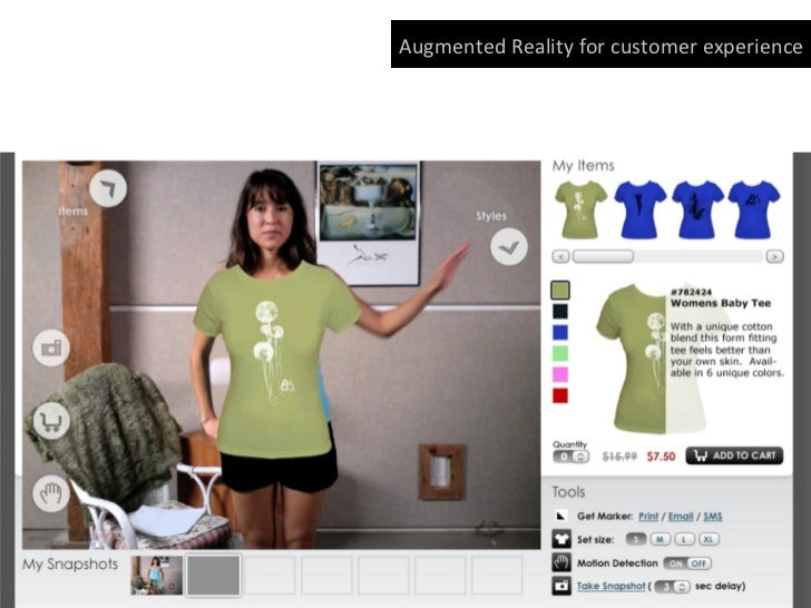 Augmented Reality for on ground sales promo