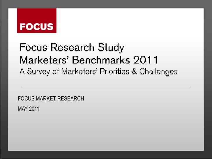 FOCUS MARKET RESEARCHMAY 2011