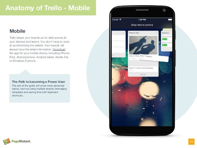 Anatomy of Trello - Mobile Mobile Trello keeps your boards up-to-date across all your devices and teams. You don't have to...