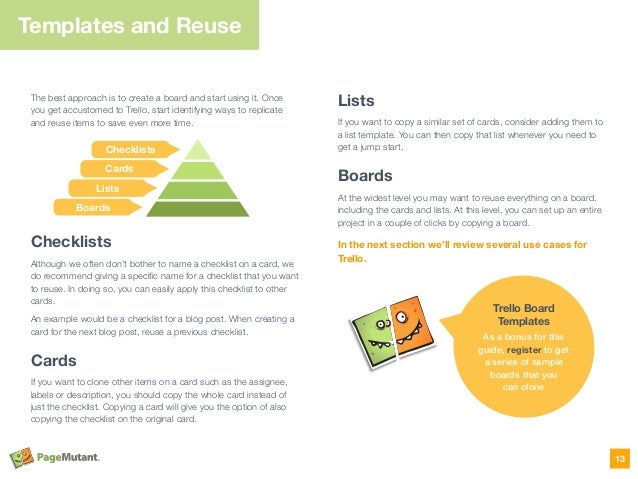 The best approach is to create a board and start using it. Once you get accustomed to Trello, start identifying ways to re...