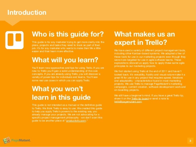 Who is this guide for? This guide is for any marketer trying to get more clarity into the plans, projects and tasks they n...