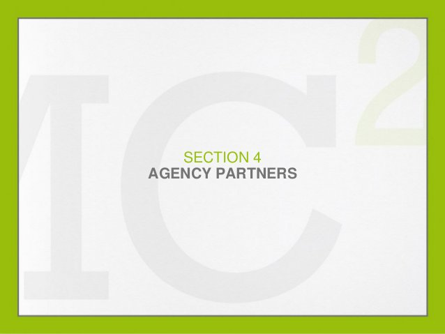 SECTION 4 AGENCY PARTNERS  MARKETING OUTLOOK 2014  0