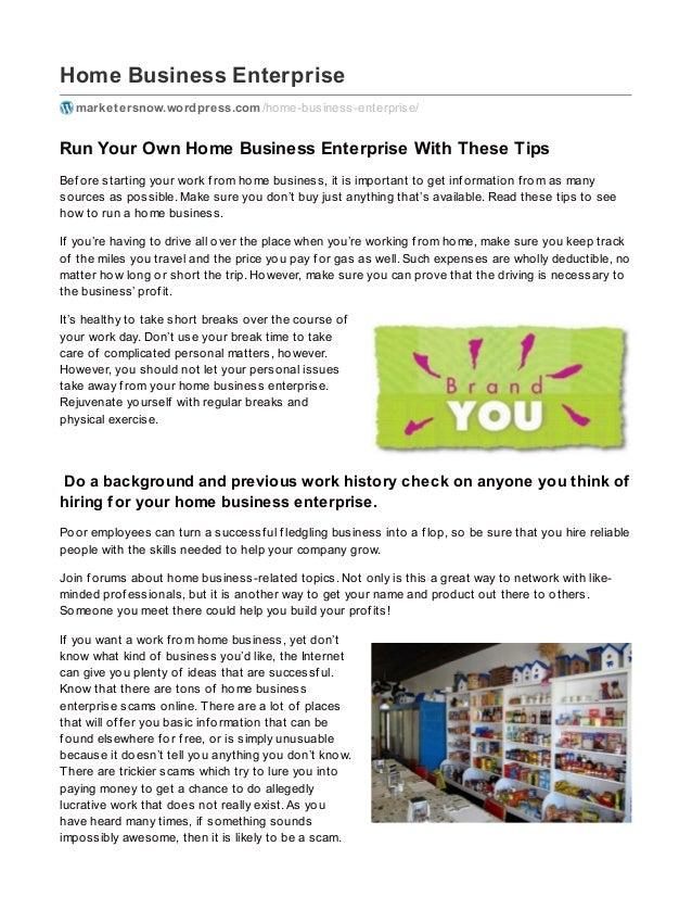 Home Business Enterprise marketersnow.wordpress.com/home-business-enterprise/ Run Your Own Home Business Enterprise With T...