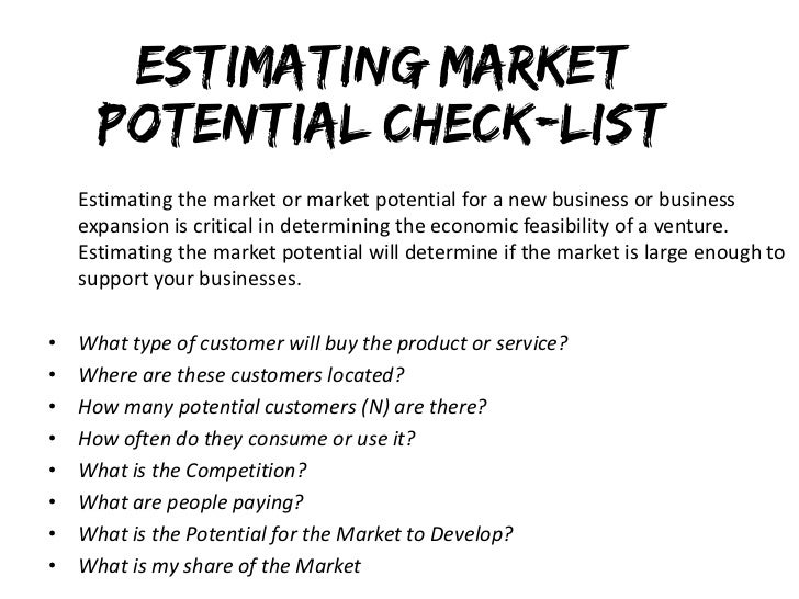 market estimation
