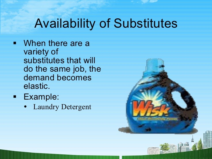 supply demand and price elasticity laundry detergent The market for used cars is described by the supply and demand functions qs the price elasticity of demand (using arc videotapes and laundry detergent c.